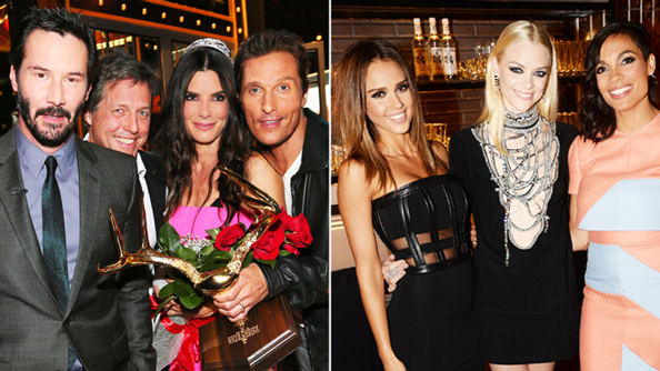 Spike TV's Guys Choice Awards: Sandra Bullock, Matthew McConaughey, Jessica Alba, Jaime King, Rosario Dawson