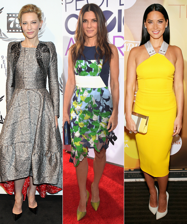 Lupita Nyong'o, Cate Blanchett, Jessica Chastain, Sandra Bullock and Olivia Munn