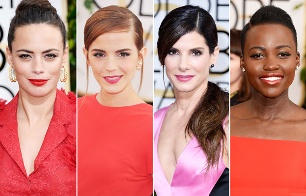 Golden Globes Beauty Trend - Matching Lips, Matching Dress