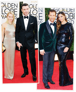 Naomi Watts & Liev Schreiber, Matthew McConaughey & Camila Alves