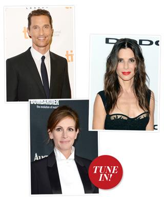 Matthew McConaughey, Sandra Bullock and Julia Roberts