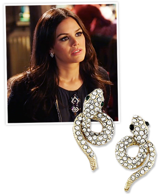 Rachel Bilson and My Jewel Candy Snake Earrings