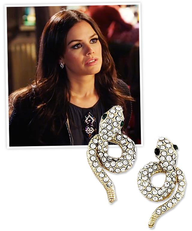 Rachel Bilson and My Jewel Candy Snake Earrings
