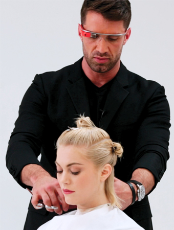 Google Glass Hair Styling - Matrix