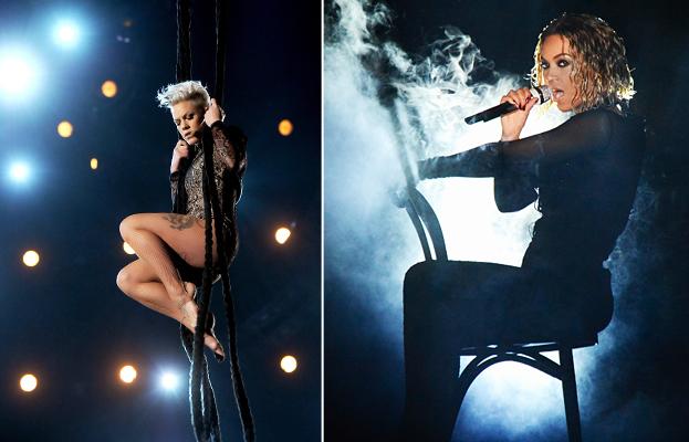 Beyonce and Pink