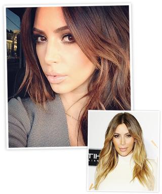 Kim Kardashian Brunette 2014