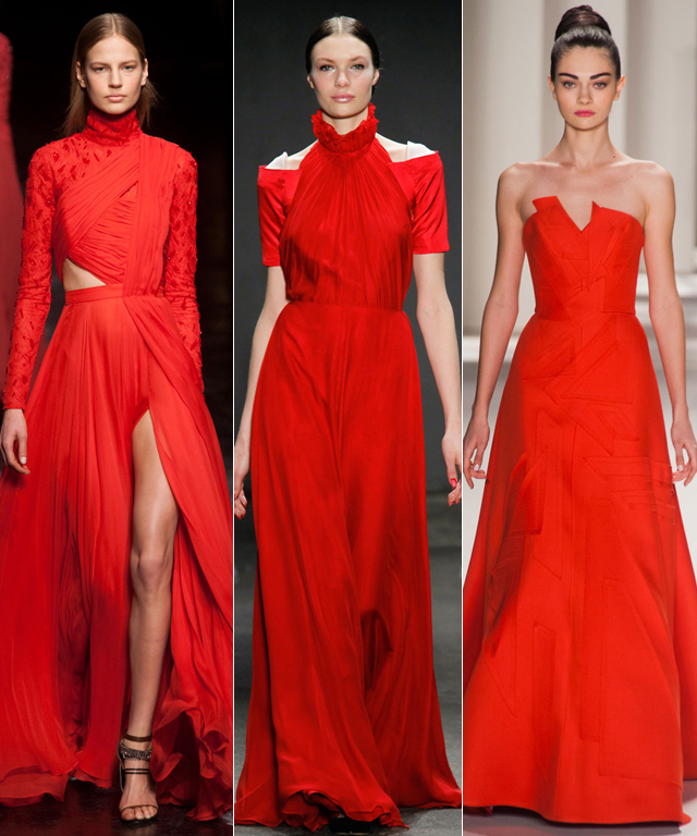 NYFW Fall 2014 Red Trend