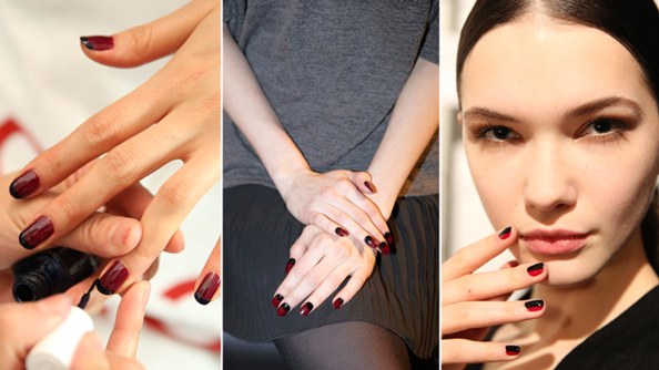 Fashion Week Manicures - Red and Black Nails