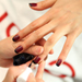 Fashion Week Manicure Trend: Red and Black Nail Art