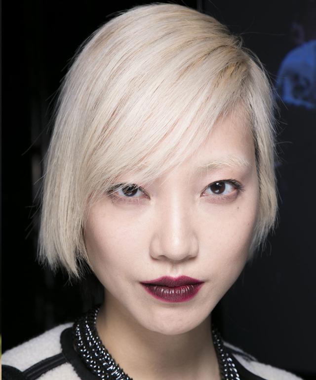 Fashion Week Beauty Trend - Wine Lip