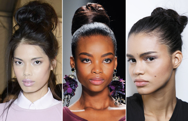 Fashion Week Runway Hair Trend - Oversized Bun