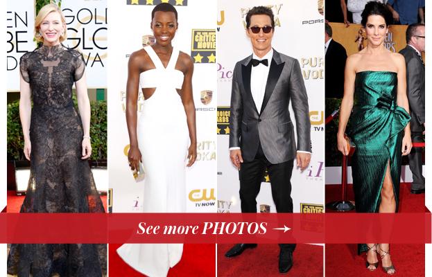 Cate Blanchett, Lupita Nyong'o, Matthew McConaughey, and Sandra Bullock
