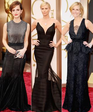 Emma Watson, Charlize Theron, Anne Hathaway, and Julia Roberts Oscars 2014