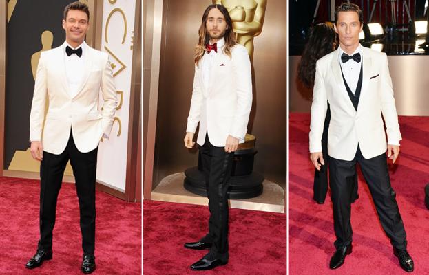 Ryan Seacrest, Jared Leto, Matthew McConaughey, Oscars 2014