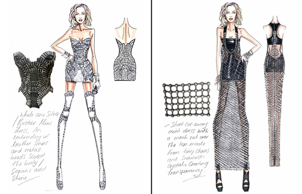 Versace sketches