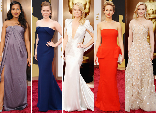 Kerry Washington, Amy Adams, Kate Hudson, Jennifer Lawrence, and Cate Blanchett