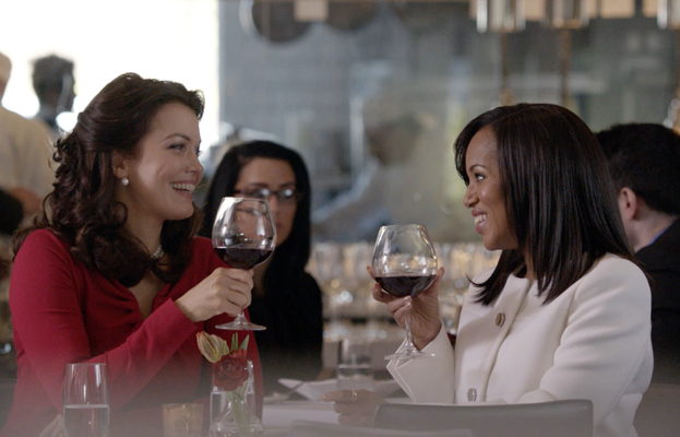 Scandal, Bellamy Young and Kerry Washington