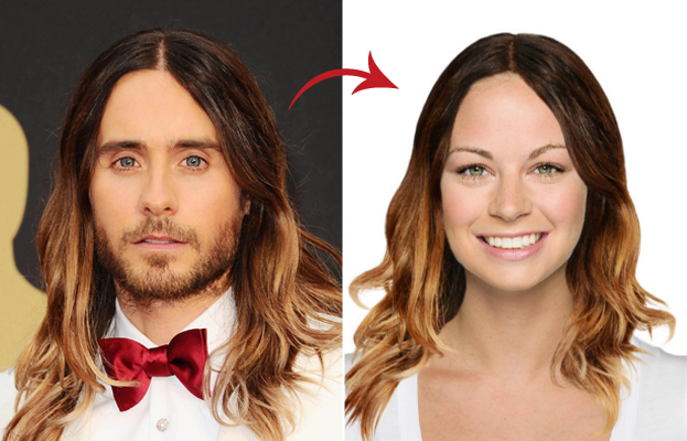 Jared Leto Hair - Hollywood Makeover Tool