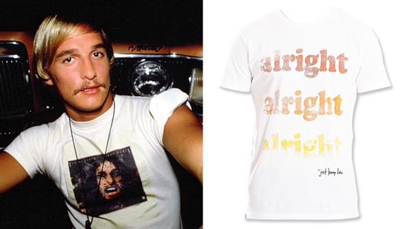 Matthew McConaughey, Alright Alright Alright T-shirt