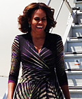 Michelle Obama Travels In High Style