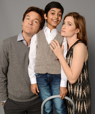 Jason Bateman, Rohan Chand, and Kathryn Hahn