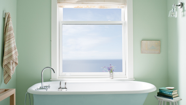 Breath of Fresh Air Painted Bath Tub