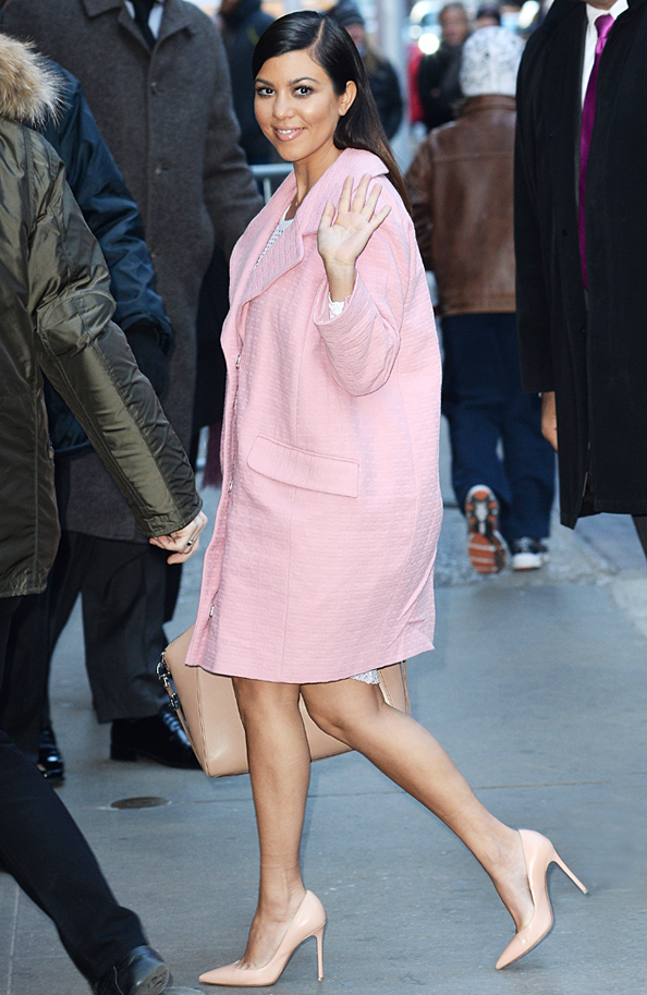 Kourtney Kardashian Pink Coat