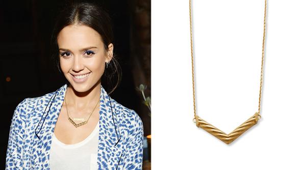 Jessica Alba's TomTom Necklace