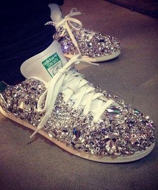 Pharrell's Swarovski Adidas Sneakers