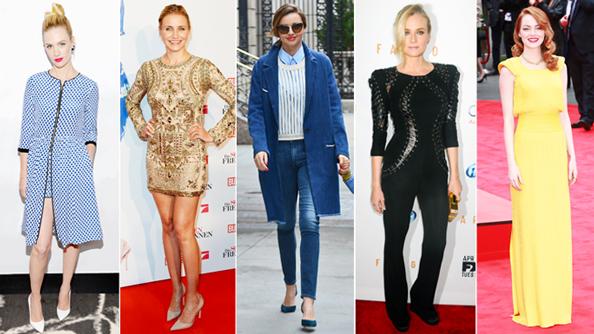 January Jones, Cameron Diaz, Miranda Kerr, Diane Kruger, Emma Stone