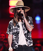 Jared Leto Hawaiian Shirt at MTV Movie Awards