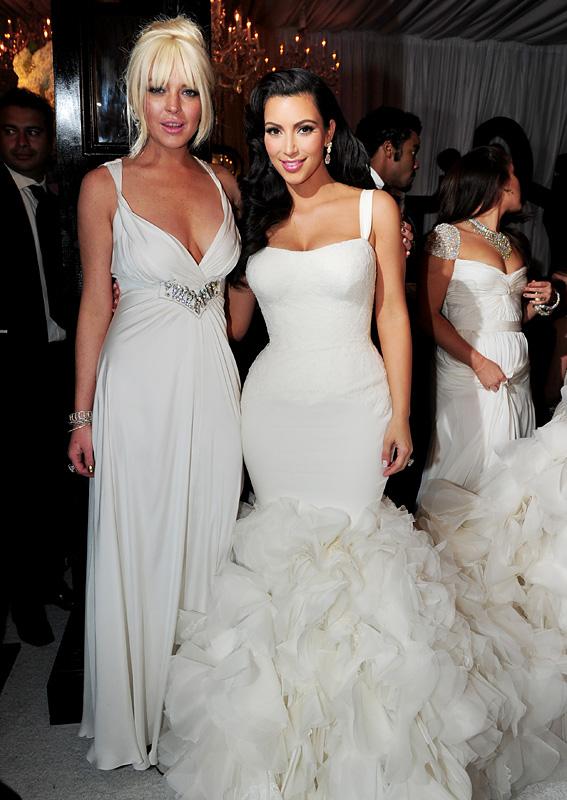 celebrity look back kardashian kris humphries wedding