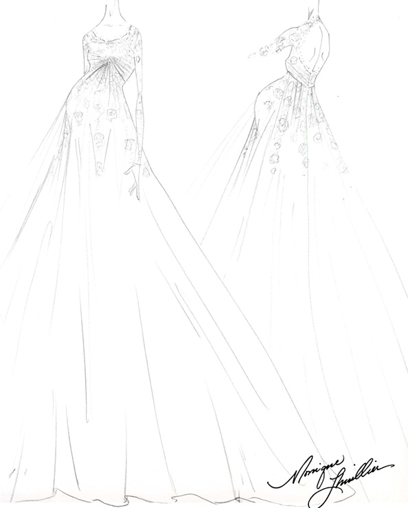 Ginnifer Goodwin's Monique Lhuillier Wedding Gown