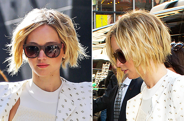 Pixie Cut Into a Chin-Length Bob, As Inspired By Jennifer Lawrence