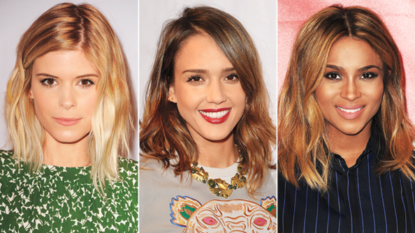 Lob Haircut - Long Bob - Kate Mara - Jessica Alba - Ciara
