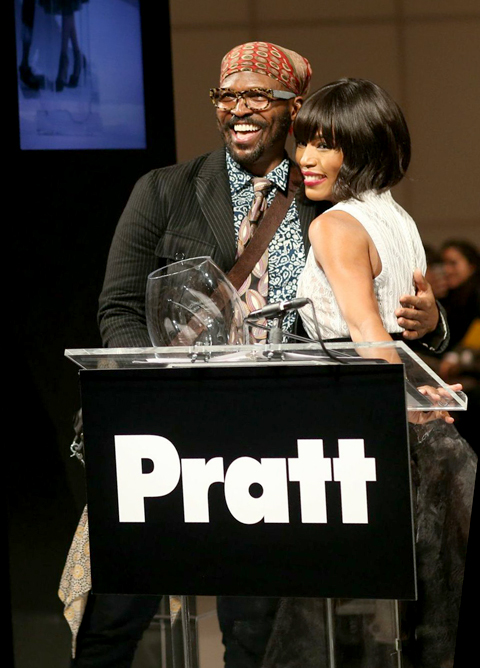 Angela Bassett and Byron Lars at 2014 Pratt Institute Fashion Show