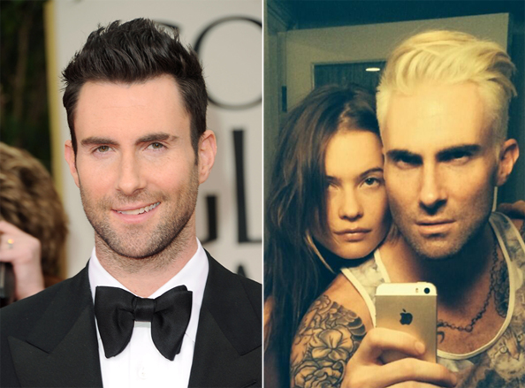 Adam Levine Blonde Hair