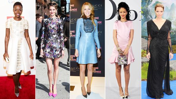 Lupita Nyongo, Shailene Woodley, Blake Lively, Rihanna, Angelina Jolie