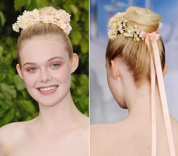 Elle Fanning Creates a Fairytale Headress for a Night at the Palace ...