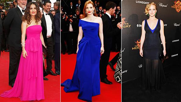 Jennifer Lawrence, Jessica Chastain, Salma Hayek