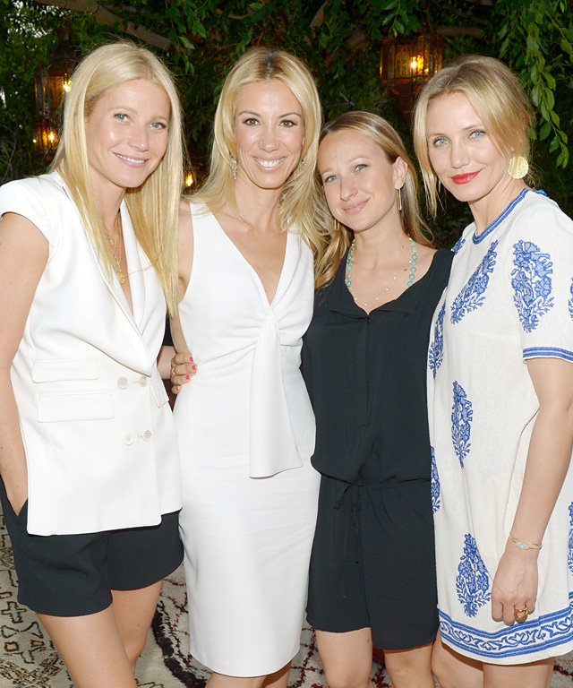 Gwyneth Paltrow, Cameron Diaz, Jennifer Meyer, Vicky Vlachonis