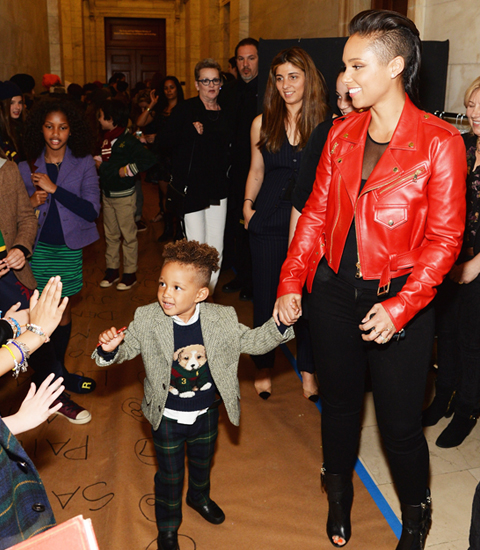 Alicia Keys's son, Egypt, at the Ralph Lauren children's show