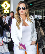 Khloe Kardashian Airport Style