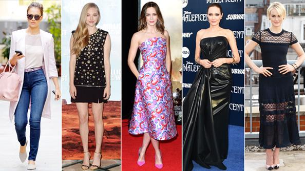 Jessica Alba, Amanda Seyfried, Emily Blunt, Angelina Jolie, Taylor Schilling