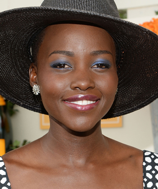 Lupita Nyong'O Eye Makeup - Blue Eye Shadow