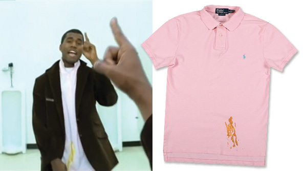 Kanye West Mustard Stained Shirt