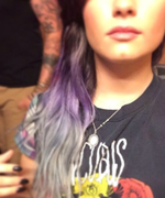 Demi Lovato Purple Hair