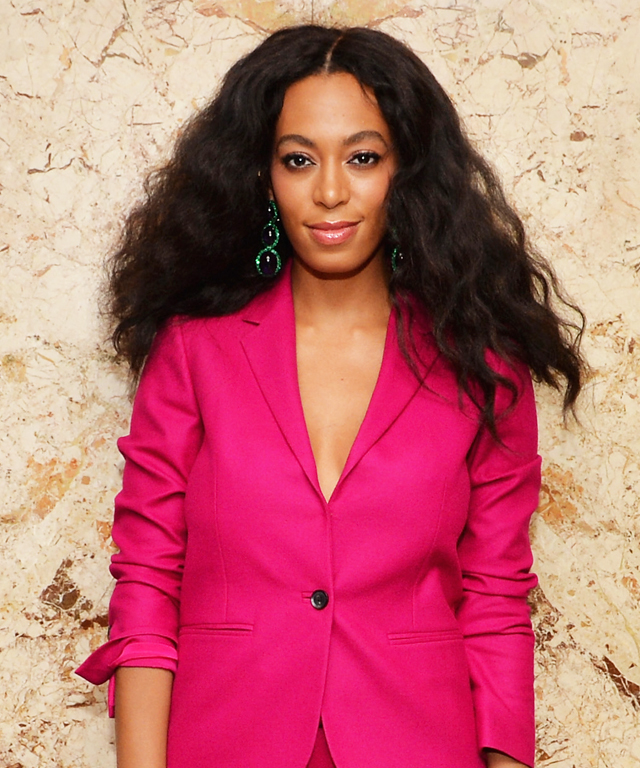 Beyonce and Solange in pink