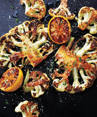 Cauliflower Steaks with Parsley