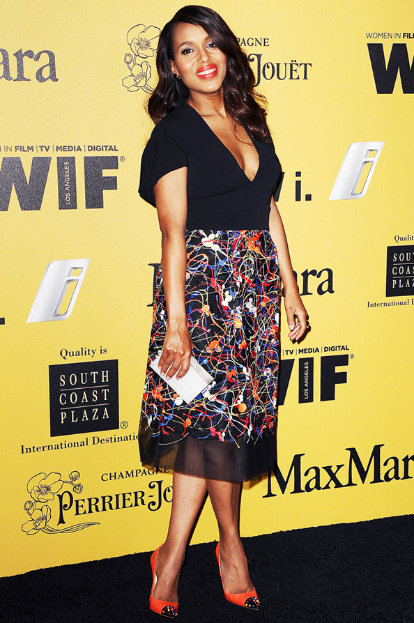 Kerry Washington Makes Her Post-Baby Red Carpet Debut